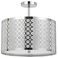 Cal Lighting FX-2293/1C Madrid 3 Light 16 inch Chrome Semi Flush Pendant Ceiling Light