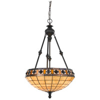Tiffany 3 Light 18 inch Antique Bronze Pendant Ceiling Light