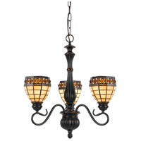 Tiffany 3 Light 23 inch Antique Bronze Pendant Ceiling Light