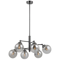 Cal Lighting FX-2577-6 Prato 6 Light 32 inch Gun Metal Chandelier Ceiling Light