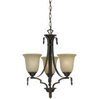 Cal Lighting FX-3506/3 Dabois 3 Light 18 inch Gold Bronze Chandelier Ceiling Light
