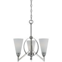 Cal Lighting FX-3508/3 Canroe 3 Light 18 inch Brushed Steel Chandelier Ceiling Light
