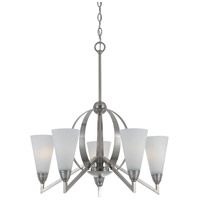 Canroe 5 Light 26 inch Brushed Steel Chandelier Ceiling Light