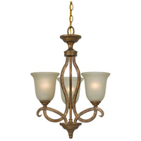 Cal Lighting FX-3512/3 Emmet 3 Light 18 inch Vintage Gold Chandelier Ceiling Light