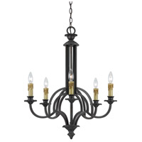 Cal Lighting FX-3513/5 Elberton 5 Light 26 inch English Bronze Chandelier Ceiling Light
