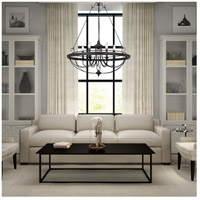 Cal Lighting FX-3518/6 Helena 6 Light 28 inch Texture Gray W and Moroccan Bronze Chandelier Ceiling Light