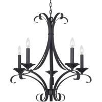 Cal Lighting FX-3520/5 Austin 5 Light 27 inch Texture Black Chandelier Ceiling Light