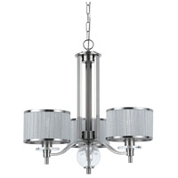 Cal Lighting FX-3522/3 Abaco 3 Light 26 inch Brushed Steel Chandelier Ceiling Light