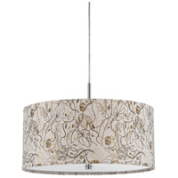 Nianda 2 Light 18 inch Floral Fabric Pendant Ceiling Light