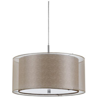 Cal Lighting FX-3527/1P Nianda 2 Light 18 inch Clear Fabric Pendant Ceiling Light