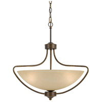 Cal Lighting FX-3529/1P Romano 3 Light 22 inch Rust Pendant Ceiling Light