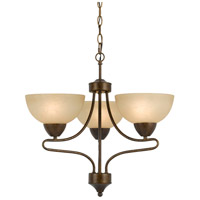 Cal Lighting FX-3529/3 Romano 3 Light 21 inch Rust Chandelier Ceiling Light
