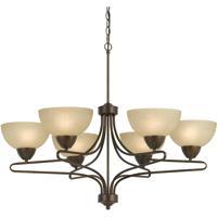 Cal Lighting FX-3529/6 Romano 6 Light 33 inch Rust Chandelier Ceiling Light