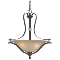 Cal Lighting FX-3530/1P Riverton 3 Light 25 inch Dark Bronze Pendant Ceiling Light