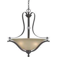 Cal Lighting FX-3530/1P Riverton 3 Light 25 inch Dark Bronze Pendant Ceiling Light