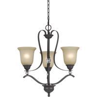 Cal Lighting FX-3530/3 Riverton 3 Light 22 inch Dark Bronze Chandelier Ceiling Light