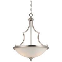 Cal Lighting FX-3531/1P Barrie 3 Light 19 inch Brushed Steel Pendant Ceiling Light