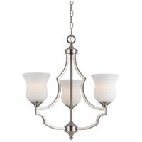 Cal Lighting FX-3531/3 Barrie 3 Light 22 inch Brushed Steel Chandelier Ceiling Light