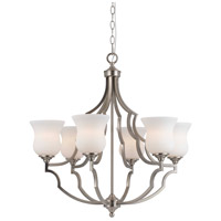 Barrie 6 Light 28 inch Brushed Steel Chandelier Ceiling Light