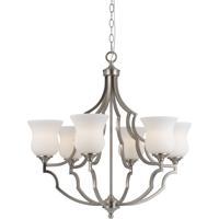 Cal Lighting FX-3531/6 Barrie 6 Light 28 inch Brushed Steel Chandelier Ceiling Light