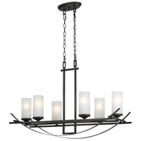 Caldwell 6 Light 18 inch Organic Black Chandelier Ceiling Light