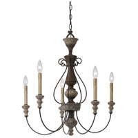 Williams 5 Light 29 inch Rust and Dapple Gray Chandelier Ceiling Light