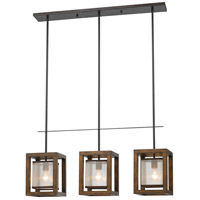 Cal Lighting FX-3536/3PI Island 3 Light 36 inch Wood Island Pendant Ceiling Light