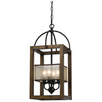 Cal Lighting FX-3536/4 Mission 4 Light 12 inch Dark Bronze Chandelier Ceiling Light