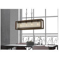 Cal Lighting FX-3536-4H Signature 4 Light 36 inch Rubber Wood Island Chandelier Ceiling Light