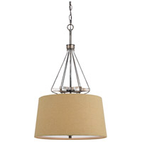 Cal Lighting FX-3538/1P Cresco 3 Light 20 inch Textured Steel Pendant Ceiling Light