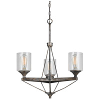 Cal Lighting FX-3538/3 Cresco 3 Light 24 inch Textured Steel Chandelier Ceiling Light