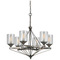 Cresco 6 Light 29 inch Textured Steel Chandelier Ceiling Light