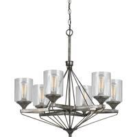 Cal Lighting FX-3538/6 Cresco 6 Light 29 inch Textured Steel Chandelier Ceiling Light