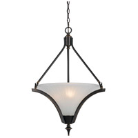 Cal Lighting FX-3541/1P Rockwood 3 Light 22 inch Dark Bronze Pendant Ceiling Light