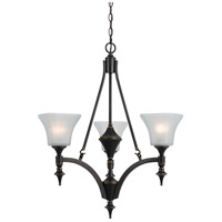 Cal Lighting FX-3541/3 Rockwood 3 Light 25 inch Dark Bronze Chandelier Ceiling Light