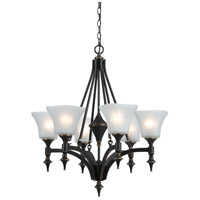 Cal Lighting FX-3541/6 Rockwood 6 Light 27 inch Dark Bronze Chandelier Ceiling Light