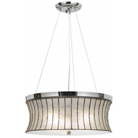 Cal Lighting FX-3546/1P Signature 3 Light 18 inch Chrome Pendant Ceiling Light