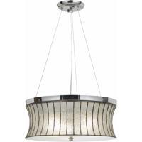 Cal Lighting FX-3546/1P Signature 3 Light 18 inch Chrome Pendant Ceiling Light