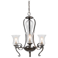 Cal Lighting FX-3548/3 Signature 3 Light 24 inch Eternity Chandelier Ceiling Light