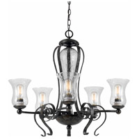 Cal Lighting FX-3548/5 Signature 5 Light 28 inch Eternity Chandelier Ceiling Light