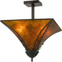 Cal Lighting FX-3549/1C Signature 2 Light 16 inch Mica Flushmount Ceiling Light