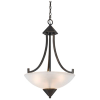 Cal Lighting FX-3551/1P Signature 3 Light 19 inch Dark Bronze Pendant Ceiling Light