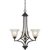 Cal Lighting FX-3551/3 Signature 3 Light 24 inch Dark Bronze Chandelier Ceiling Light