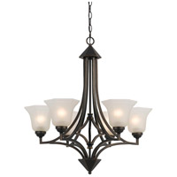 Signature 6 Light 28 inch Dark Bronze Chandelier Ceiling Light