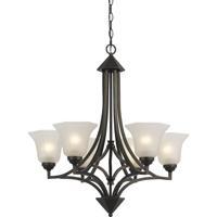 Cal Lighting FX-3551/6 Signature 6 Light 28 inch Dark Bronze Chandelier Ceiling Light