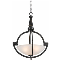 Cal Lighting FX-3552/1P Signature 3 Light 20 inch Oil Rubbed Bronze Pendant Ceiling Light