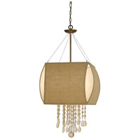 Ark 4 Light 16 inch Copper Chandelier Ceiling Light