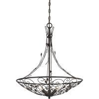 Cal Lighting FX-3560/3 Varano 3 Light 22 inch Iron Rust Chandelier Ceiling Light