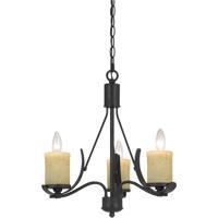 Cal Lighting FX-3561/3 Morelis 3 Light 18 inch Black Smith Chandelier Ceiling Light