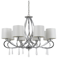 Cal Lighting FX-3562/8 Bolsena 8 Light 31 inch Chrome Chandelier Ceiling Light